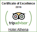 Certificate of Excellence 2016 - Hotel Athena